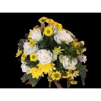 Flower Arrangement, White Rose & Chrysanthemums